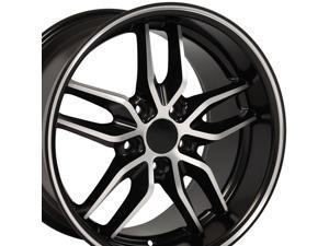 OE Wheels 18 Inch Fits Chevy Camaro Corvette Pontiac Firebird Deep Dish Stingray Style CV18A Satin Black Machined 18x10.5 Rim Hollander 5633
