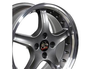 17x8 Wheel Fits Ford® Mustang® - 4-Lug Cobra R Style Anthracite Rim