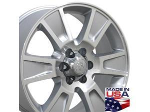 20x8.5 Wheel Fits Ford® Truck - F-150® Style Silver Rim, Hollander 3787 - SET