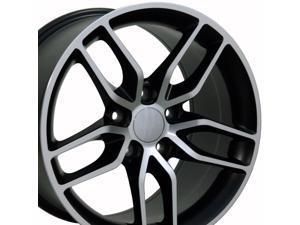 OE Wheels 19 Inch Fits Chevy Corvette C7 Stingray Style CV27B Satin Black Machined 19x10 Rim Hollander 5633