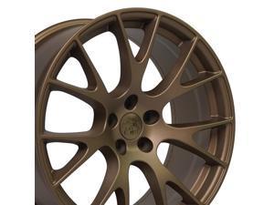 OE Wheels LLC 20 Inch Fits Dodge Challenger Charger SRT8 Magnum Chrysler 300 SRT8 DG15 Hellcat Style Bronze 20x9 Rim Hollander 2528