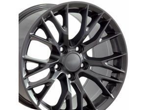 OE Wheels LLC 19 Inch Fits Chevy Corvette C7 Z06 Style CV22B Gunmetal 19x10 Rim Hollander 5734