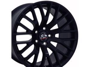 OE Wheels 19 Inch Fits Ford Mustang 05-2018 GT Style FR19C 19x8.5 Rims Satin Black SET