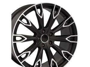 OE Wheels 20 Inch Fits Audi Q5 TT A4 A5 A6 A7 A8 Q7 Q7 Style AU32 Satin Black Machined 20x9 Rim