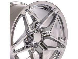OE Wheels 17 inch Fits Corvette Camaro Pontiac TransAm C7 ZR1 Style Style CV31 17x11 Rims Chrome (Rear Fitment ONLY)