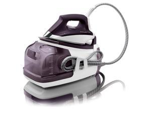 rowenta dg8520 perfect steam 1800watt eco energy steam iron station stainless steel soleplate, 400hole, purple