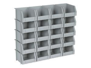 20 Bin Rail Mount Stackable Parts Storage