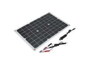 Universal Monocrystalline Solar Panel Flexible 20W Solar Battery Charger High Efficiency Camping Power Supply