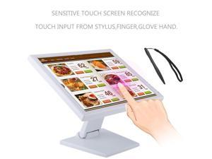15 Inch Touch Screen LED VGA POS Catering Order Machine Monitor Cashier For POS Cash Registers Supermarket US Plug