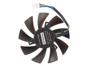 T129215SU 4 Pin Two Ball-Bearing Replace Cooling Fan for MSI Gigabyte GTX 1060 RX 480 460 570 580 R9 290X RX 550 Card Cooler Fan, Diameter: 85mm