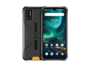 MIDIGI BISON Rugged Phone, 6GB+128GB IP68/IP69K Waterproof Dustproof Shockproof, Quad Back Cameras