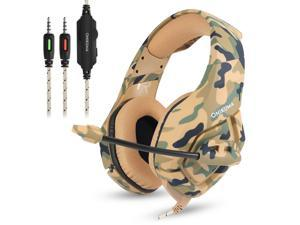 ONIKUMA K1 Deep Bass Noise Canceling Camouflage Gaming Headphone with Microphone For PS4, Smartphone, Tablet, PC, Notebook