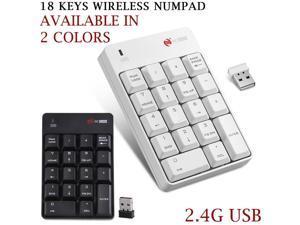 New Keypad 18 Keys Wireless Numeric Mini Keyboard Numpad 2.4G USB Number Pad