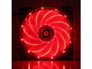 15 red LED Lights 12V 9cm 92mm 92x92x25mm PC CPU Case fan Cooling Fan 3pin