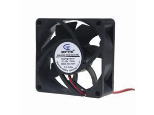 5pcs 12V 7cm 7025S 70mm 70x70x25mm 2pin Brushless fan Cooling Cooler Fan Quiet