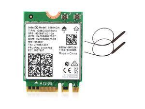 Intel Wireless 9260ac 9260NGW 1.73Mbps Dual Band Wifi Card BT 5.0 2x antennas