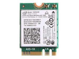 867M Intel Wireless-AC 7265 7265NGW 802.11ac NGFF Dual Band Wifi BT 4.0 Card