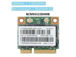 BCM943228HMB 300Mps 2.4/5GHz Bluetooth 4.0 Mini PCI-E Wifi Card for Laptop