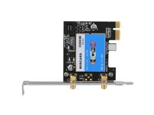 RTL8821 Wireless Bluetooth PCI-E WiFi Card 433Mbps 2.4/5G 802.11AC w/ Antenna CO