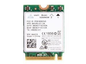 Intel Tri-band Wireless-AC 18260 18260NGW M.2 NGFF Bluetooth 4.1 Wifi Card 867M