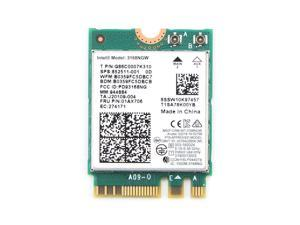 Intel Dual Band Wireless-AC 3168 NGFF 433Mbps WiFi + Bluetooth4.2 802.11ac Card