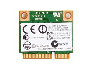 HP Broadcom BCM943228HMB Wireless 300Mbps Bluetooth 4.0 Half MINI PCIe Wifi Card