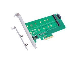PCIe x 4 to NGFF(PCIe) SSD+SATA to NGFF(SATA)adapter card