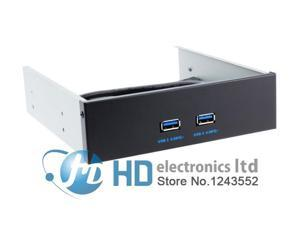 """20Pin Motherboard to USB 3.0 2 Ports Front Panel internal Bracket 4 5.25"""""""