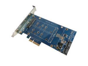 "PCIe X4 to 2.5"" SATA +m.2+2Port SATA3.0, SATA Riser Card PCIe to SATA 2.5"" SSD Adapter PCIe to M.2 Converter With RAID Function"