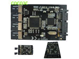 """Multi Micro SD Card to Micro SATA adapter card 1.8"""" hdd enclosure with RAID 4 TF to 16 pin SATA converter"""
