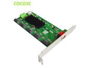 1:5 SATA 2.0 Port Multiplier adapter SATA 3Gb/s Hard Disk Clone riser card Easy Dip Switch RAID 0 1 3 5 10 LARGE JMB393