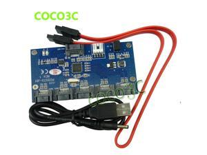 1 to 5 SATA 2.0 Port Multiplier Card adapter 3Gbps SATA II PM converter