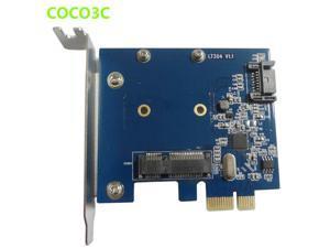 Desktop SATA III + mSATA slot PCIe Card SATA 6Gbps 3.0 HDD mini-SATA SSD to PCI Express card ASM1061 Chipset
