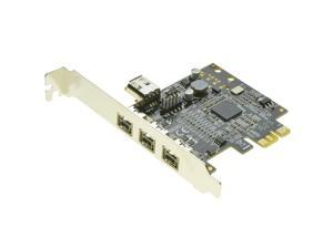 PCIe to 3 Ports 1394B Shared internal 1394A card External Firewire 800 IEEE 1394 PCI express card For HD video capture card