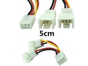 5cm 12V PC Fan 3 Pin Female Splitter VGA Extension Cable Power Connector Adapter