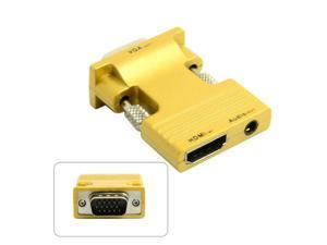 HDMI Female to VGA Male & Audio Output Adapter for PC Laptop For Macbook Projector Monitor