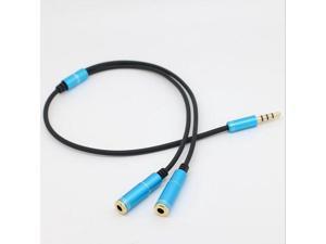 Audio Earphone Splitter Cable 3.5 mm jack 1 Male to 2 Female Headphone Y Splitter Audio Cable