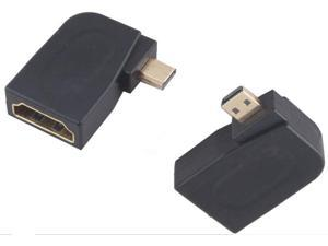 Right Angle HDMI Female to Micro HDMI Male Adapter Connector M/F Coupler