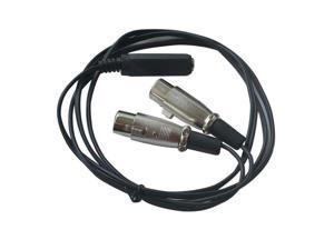"TRS Audio Y Cable Cord 3m Dual 3-Pin XLR Female to 1/4"" 6.35mm Female Jack Plug"