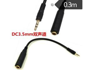 6.35mm Female to 3.5mm Male Plug Jack Stereo Hifi Mic Audio Extension Cable