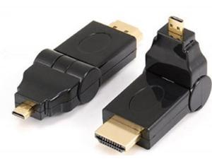180 Degree Rotation 90 angle Micro D HDMI Male to HDMI Male Adapter Convertor