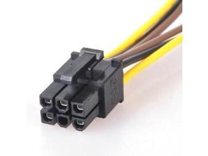 6 Pin PCI-E to 2  4 Pin Splitter Power Adapter Cable