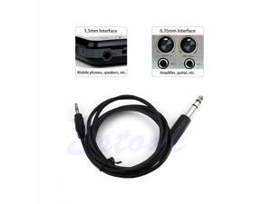 """1.8m 6.35mm TRS Stereo Male to 1/8"""" 3.5mm Male Plug Aux Cable Cord Charge"""
