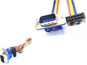 0.25m-0.5m Serial 9 Pin - panel M to 2 5 F