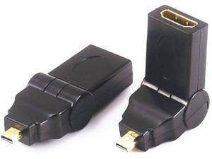 180 Degree Rotation 90 angle Micro D HDMI Male to HDMI Female Adapter Convertor