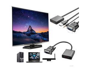 VGA To HDMI Output 1080P HD Audio TV AV HDTV Video USB Cable Converter Adapter