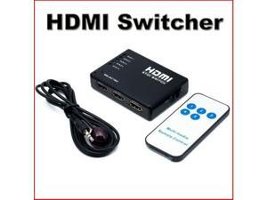 5 Way HDMI Port Switch Switcher with with IR Remote1080p Full HD For HDTV PS3 DVD