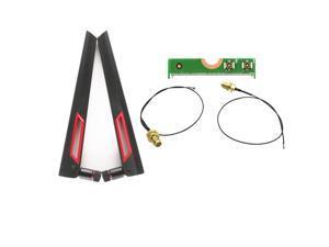 2Pcs AC88U 8Dbi 2.4G/5Ghz Antenna IPEX MHF4  Antennas set Signal wifi for Intel 7260 7265 8260 8265 9260 9265 Wifi Card