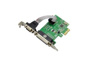 RS-232 Serial Port COM & DB25 Printer Parallel Port LPT to PCI-E PCI Express Card Adapter Converter WCH382L Chip