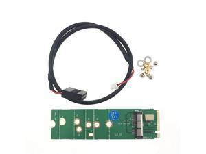 BCM94360CD BCM94360CS2 BCM943224PCIEBT2 12+6 Pin Bluetooth WiFi Wireless Card Module to M.2 NGFF Key M Adapter for Mac OS